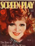 Clara Bow on the cover of Screen Play (United States) - January 1933