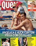 Luciano Huck, Paris Hilton, Roberto Carlos on the cover of Quem (Brazil) - February 2011