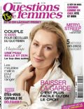 Meryl Streep on the cover of Questions De Femmes (France) - February 2012