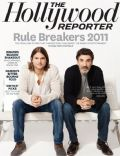 Ashton Kutcher, Chuck Lorre on the cover of The Hollywood Reporter (United States) - January 2012