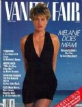 Melanie Griffith on the cover of Vanity Fair (United States) - April 1989