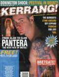 Phil Anselmo on the cover of Kerrang (United Kingdom) - April 1993