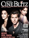 Hrithik Roshan, Kangana Ranaut, Vidya Balan on the cover of Cineblitz (India) - September 2012