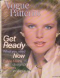 Christie Brinkley on the cover of Vogue Patterns (United States) - August 1978