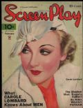 Carole Lombard on the cover of Screen Play (United States) - February 1934
