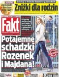Malgorzata Rozenek, Radoslaw Majdan on the cover of Fakt (Poland) - January 2014