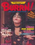 Nikki Sixx on the cover of Burrn (Japan) - December 1984