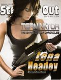 Lena Headey on the cover of Steppin Out (United States) - February 2008