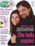 Alessandro Preziosi, Vittoria Puccini on the cover of TV Sorrisi E Canzoni (Italy) - February 2004