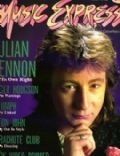 Julian Lennon on the cover of Music Express (Canada) - December 1984