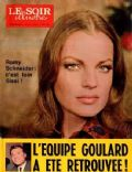 Romy Schneider on the cover of Le Soir Illustre (Belgium) - June 1970