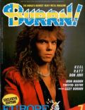 Joey Tempest on the cover of Burrn (Japan) - July 1987