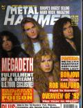 Dave Ellefson, Dave Mustaine, Marty Friedman, Nick Menza on the cover of Metal Hammer (United Kingdom) - January 1993