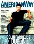 Colin Farrell on the cover of American Way (United States) - January 2002