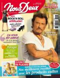 Johnny Hallyday on the cover of Nous Deux (France) - June 2013