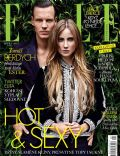Esther Satorova, Tomás Berdych on the cover of Elle (Czech Republic) - August 2013