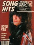 Nikki Sixx on the cover of Song Hits (United States) - January 1990