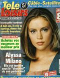Alyssa Milano on the cover of Tele Loisirs (France) - October 2000