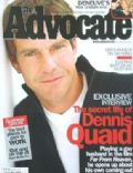Dennis Quaid on the cover of The Advocate (United States) - October 2002