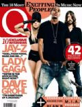 David Grohl, Jay-Z, Lady Gaga on the cover of Q (United Kingdom) - October 2010