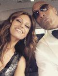 Lauren Hashian and Dwayne Johnson