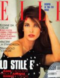 Stephanie Seymour on the cover of Elle (Italy) - April 1992