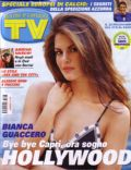 Bianca Guaccero on the cover of TV Sorrisi E Canzoni (Italy) - May 2008