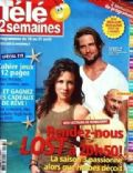 Evangeline Lilly, Josh Holloway, Josh Holloway and Evangeline Lilly on the cover of Tele 2 Semaines (France) - August 2007
