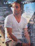 Gastón Pauls on the cover of La Nacion Revista (Argentina) - January 2006