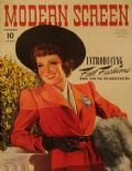 Claudette Colbert on the cover of Modern Screen (United States) - September 1940