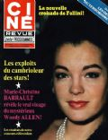 Romy Schneider on the cover of Cine Revue (France) - February 1980