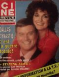 Larry Hagman, Linda Gray on the cover of Cine Revue (France) - September 1983