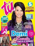 Demi Lovato, Justin Bieber on the cover of Tu (Ecuador) - April 2011