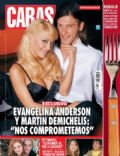 Evangelina Anderson, Martin Demichelis on the cover of Caras (Argentina) - July 2008