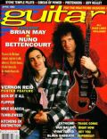 Brian May, Nuno Bettencourt on the cover of Guitar For The Practising (United States) - April 1993