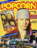 W. Axl Rose on the cover of Popcorn (Hungary) - October 1992