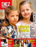 Infanta Leonor of Spain, Infanta Sofía of Spain on the cover of Diez Minutos (Spain) - April 2014