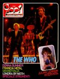Keith Moon, Pete Townshend, Roger Daltrey on the cover of Ciao 2001 (Italy) - December 1984