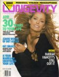 Farrah Fawcett on the cover of Longevity (United States) - January 1993