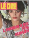 Tina Aumont on the cover of Le Ore (Italy) - March 1986