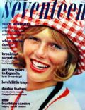 Patti Hansen on the cover of Seventeen (United States) - April 1973