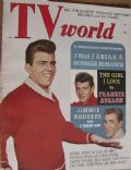Fabian on the cover of TV World (United States) - August 1959