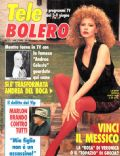 Andrea Del Boca on the cover of Tele Bolero (Italy) - May 1990