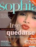 Florencia Salvioni on the cover of Sophia (Argentina) - June 2006