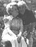 Helen Howard and Moe Howard
