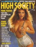 Julia Parton on the cover of High Society (United States) - January 1992