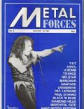 Ronnie James Dio on the cover of Metal Forces (United Kingdom) - December 1984
