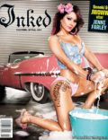 Jenni Farley on the cover of Inked (United States) - August 2012