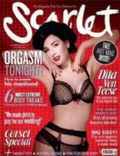 Dita Von Teese on the cover of Scarlet (United Kingdom) - November 2009
