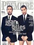 Gilles Lellouche, Jean Dujardin on the cover of Premiere (France) - February 2012